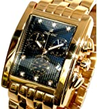 Oskar Emil Gents Rodez Limited Edition 23ct Gold Plated 7 Diamond Chronograph Watch with Black Dial