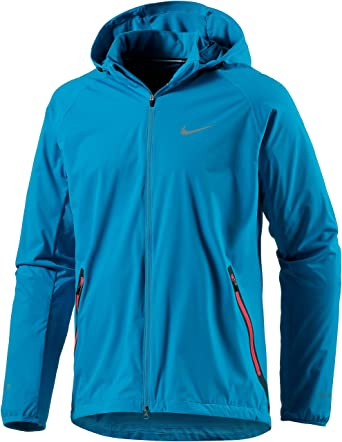 Amazon.com: Nike Men's Shield Light Rain Jacket Running: Sports ...