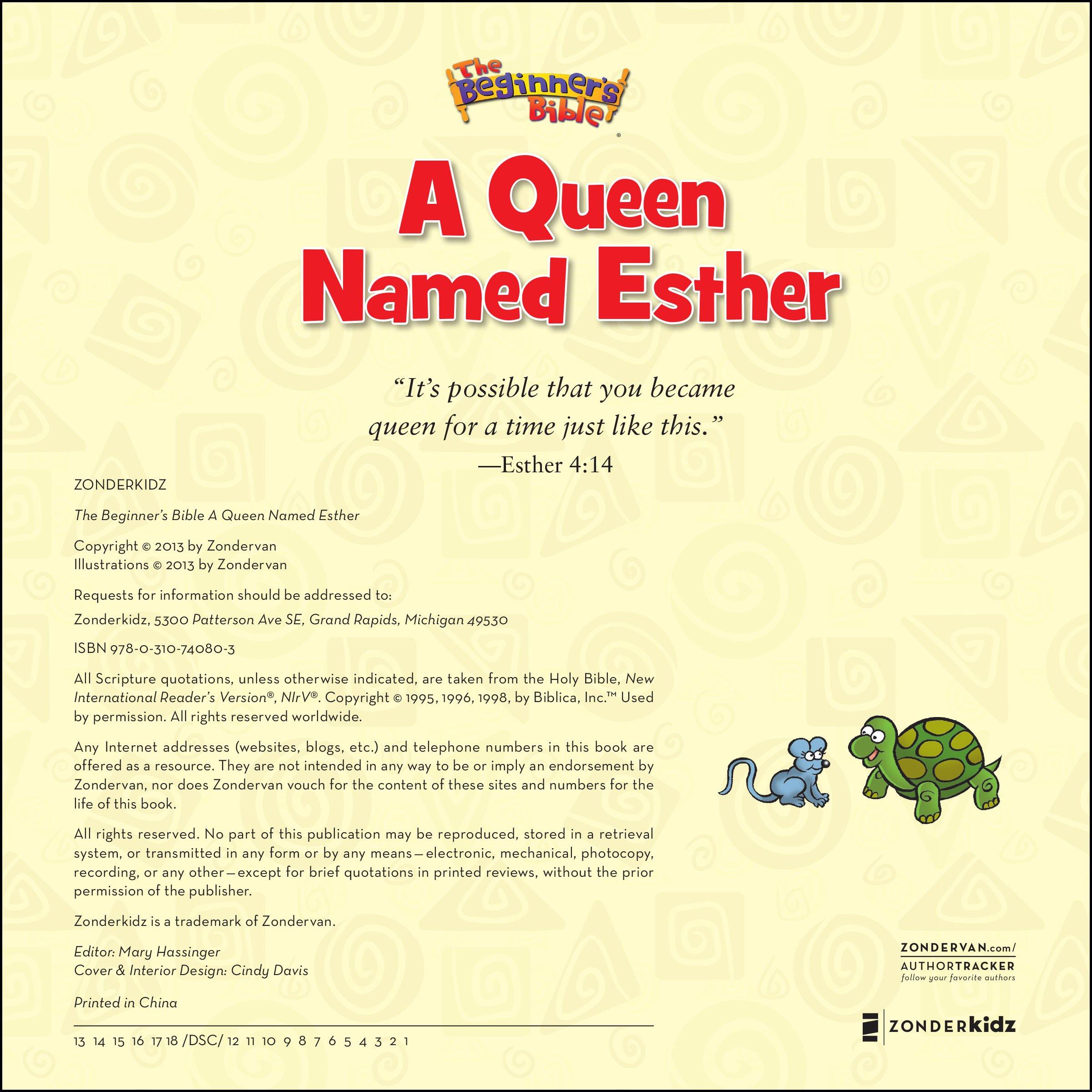 the beginner u0027s bible a queen named esther zondervan