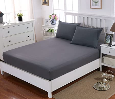 16u0026quot; (40cm) Extra Deep King Size Fitted Sheet Brushed Microfiber  Breathable Wrinkle Resistance