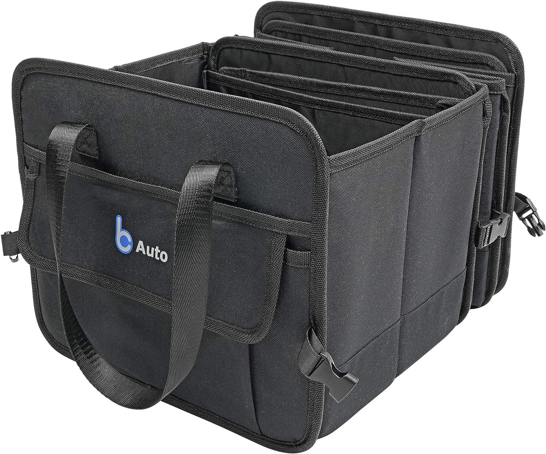 Oxford 1680D color negro plegable BCAuto Organizador compacto para maletero con varios bolsillos