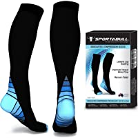 Sportabull Graduated Compression Socks for Women & Men 20-30 mmHg - Boost Stamina, Circulation & Recovery - Best Moderate Compression Athletic Fit for Running, Crossfit, Nursing, Flight Travel, Varicose Veins, Maternity & Pregnancy