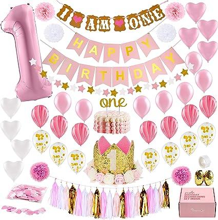 Birthday banner girls birthday decor First birthday banner birthday party banner first birthday girls birthday Girl/'s first birthday