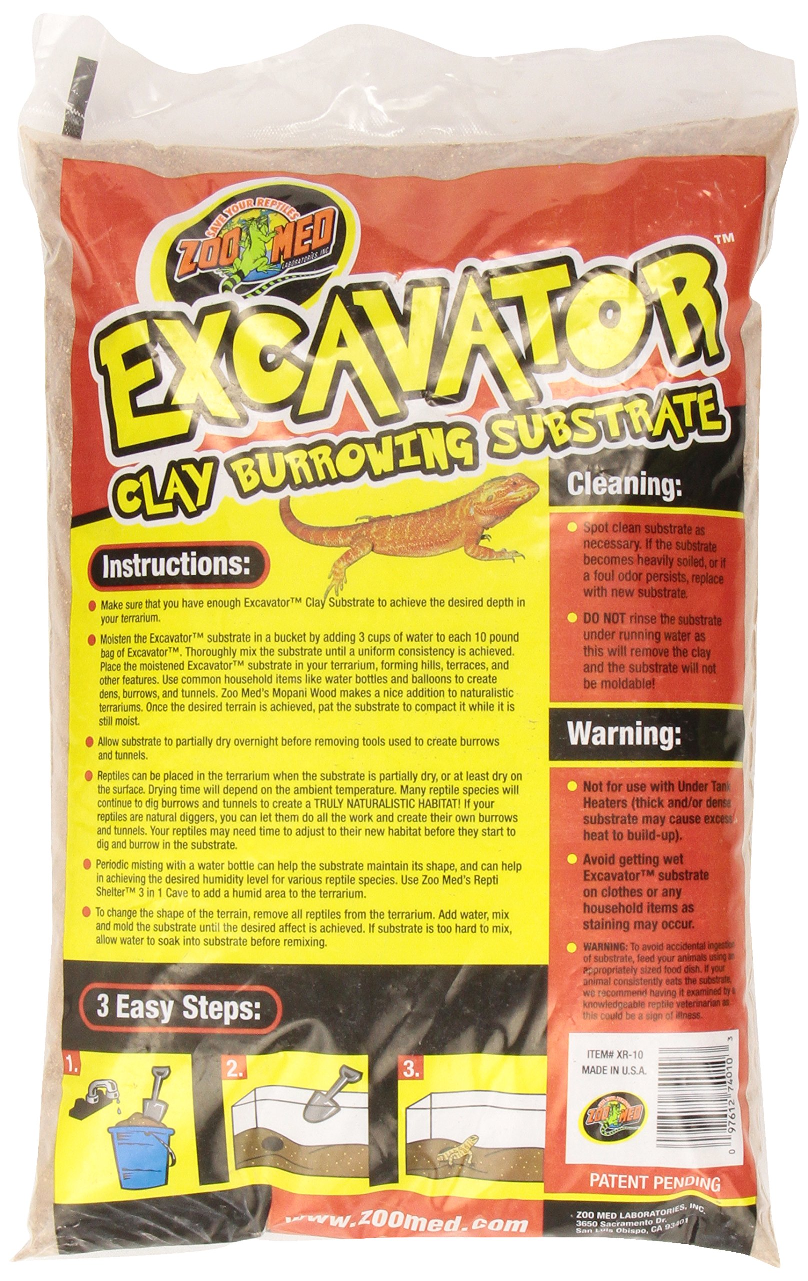 Zoo Med Excavator Clay Burrowing Substrate, 10 Pounds by Zoo Med