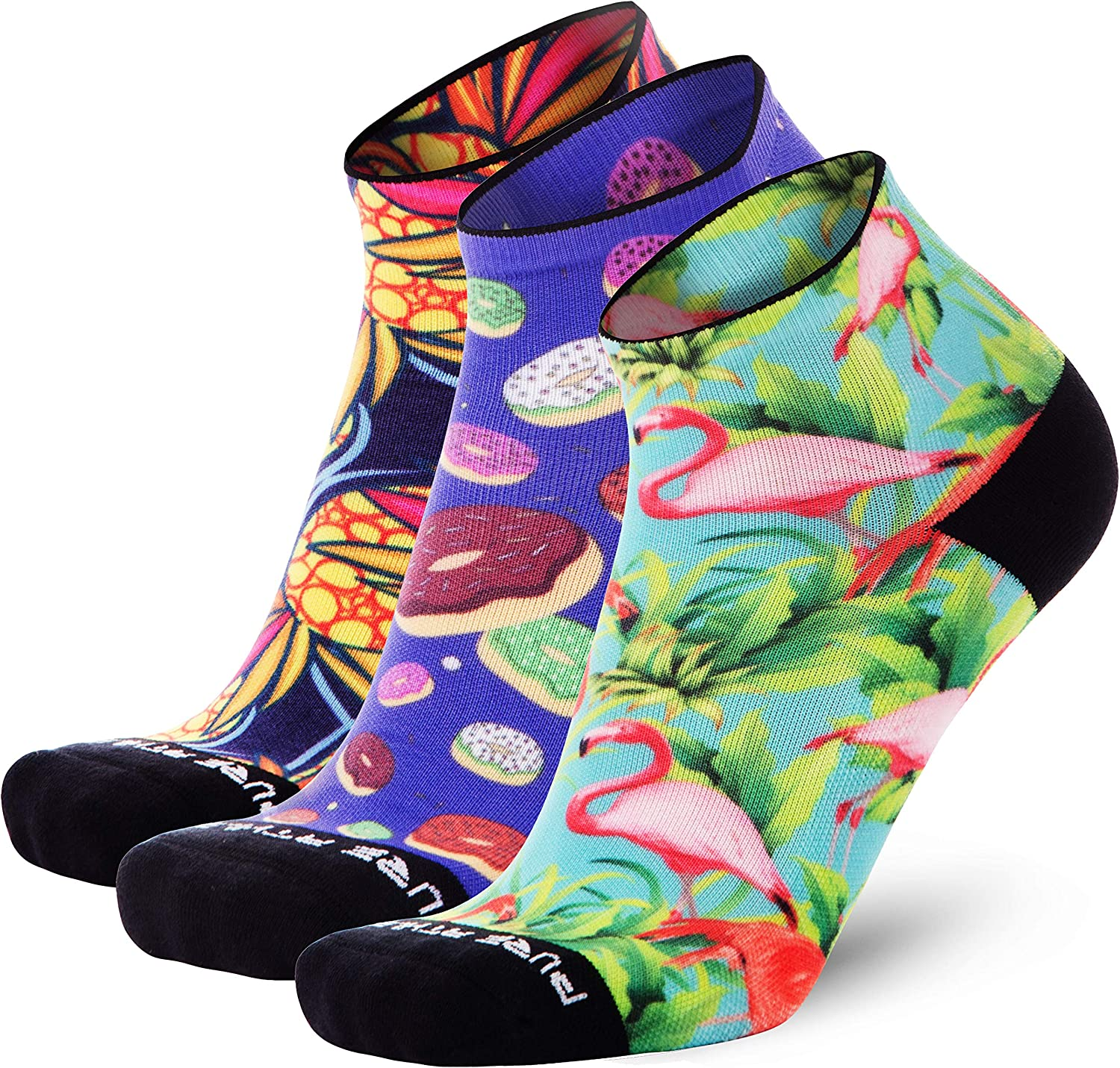 Anti-Blister Ankle Athletic Sock Colorful Fun Pure Athlete Running Socks Women and Men