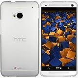 mumbi TPU Schutzhülle HTC One Hülle halbtransparent milchig weiss (NICHT HTC One M8)