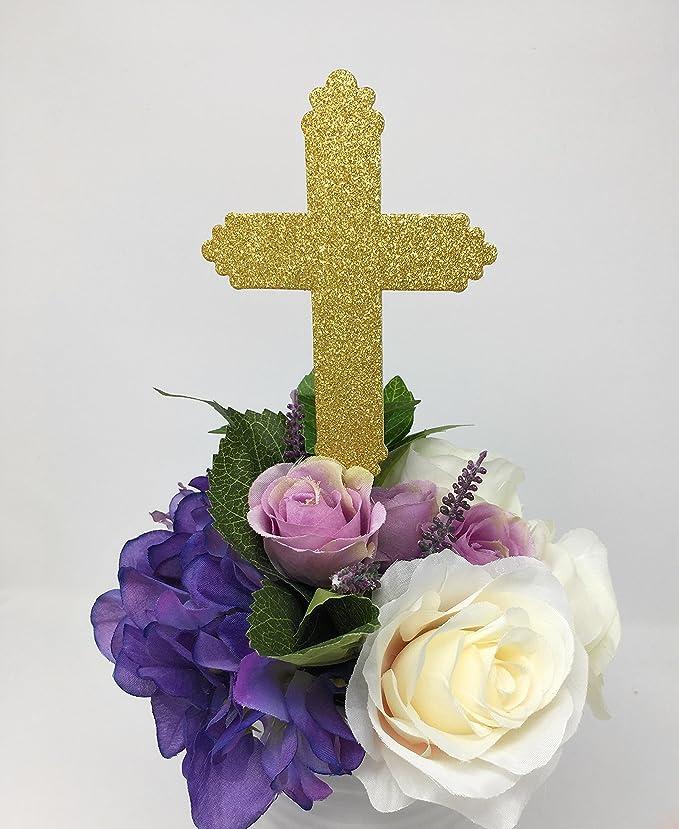 Bastones de centro de mesa con purpurina para bautizo, púas ...