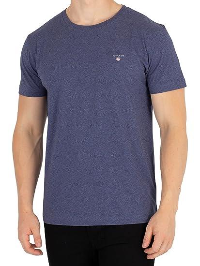 2f1e0828162f Gant Men's Original T-Shirt, Blue, S: Amazon.co.uk: Clothing