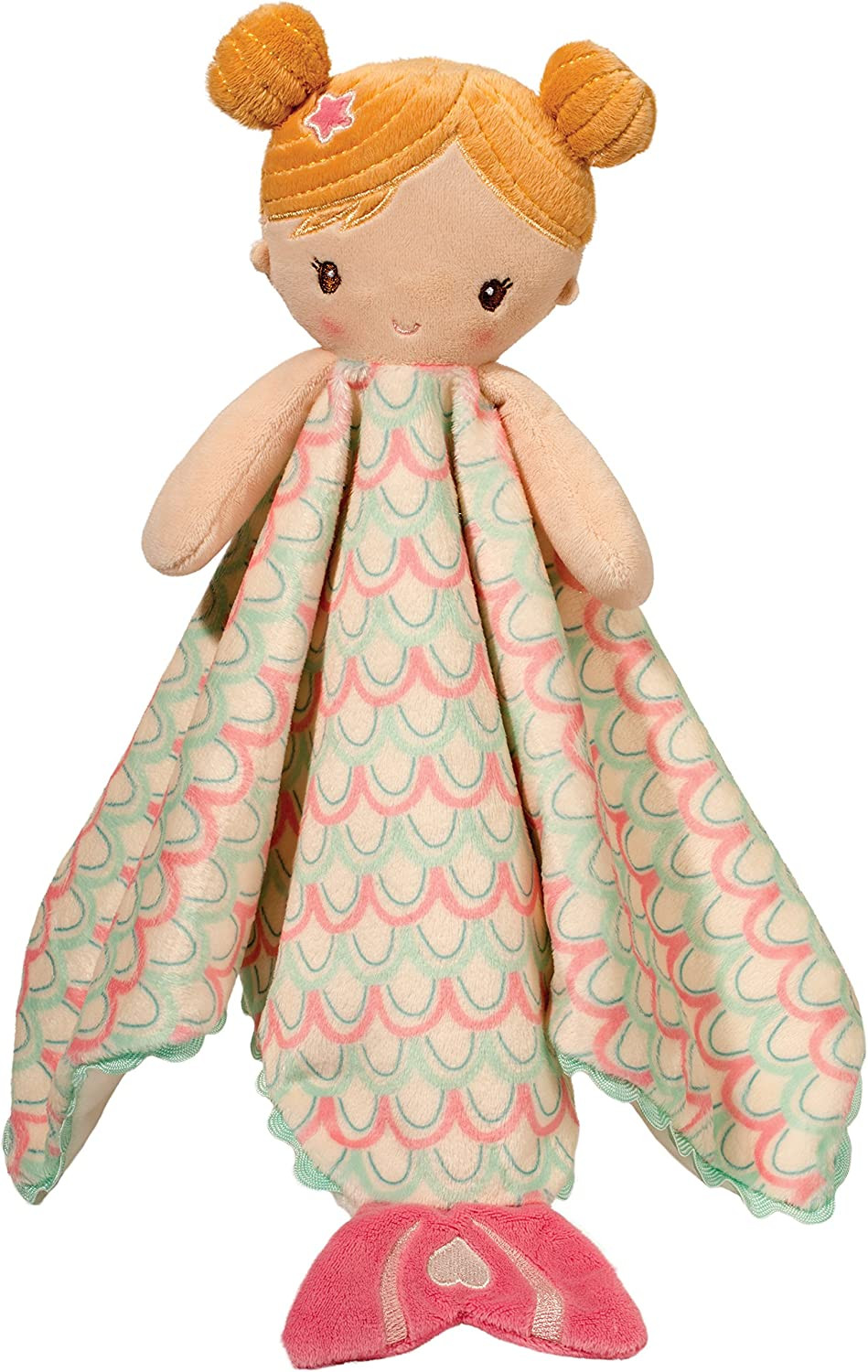 Douglas Toys Mermaid Lil Snuggler Baby Lovey Blanket with Embroidered Details