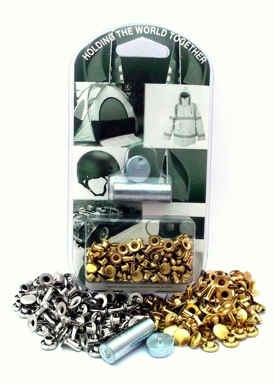 BP 504-10-14 M20 Kit de Remaches Lat/ón Niquelado Casquillo de 10,5mm con Remache de 14,0mm