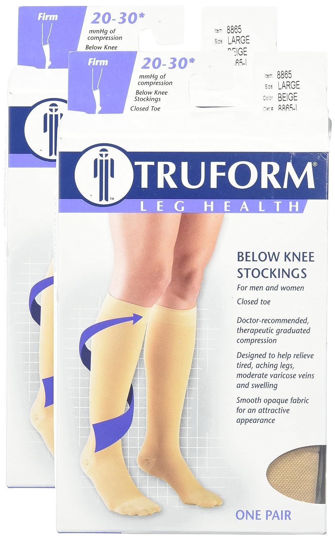 a9f682b40de Amazon.com  Truform Compression 20-30 mmHg Knee High Stockings Beige ...