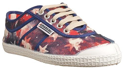 KAWASAKI 23 AMERICA ICON BLUE/RED/WHITE. Zapatilla Deportiva Casual. Hombre - Mujer. Talla 37: Amazon.es: Zapatos y complementos