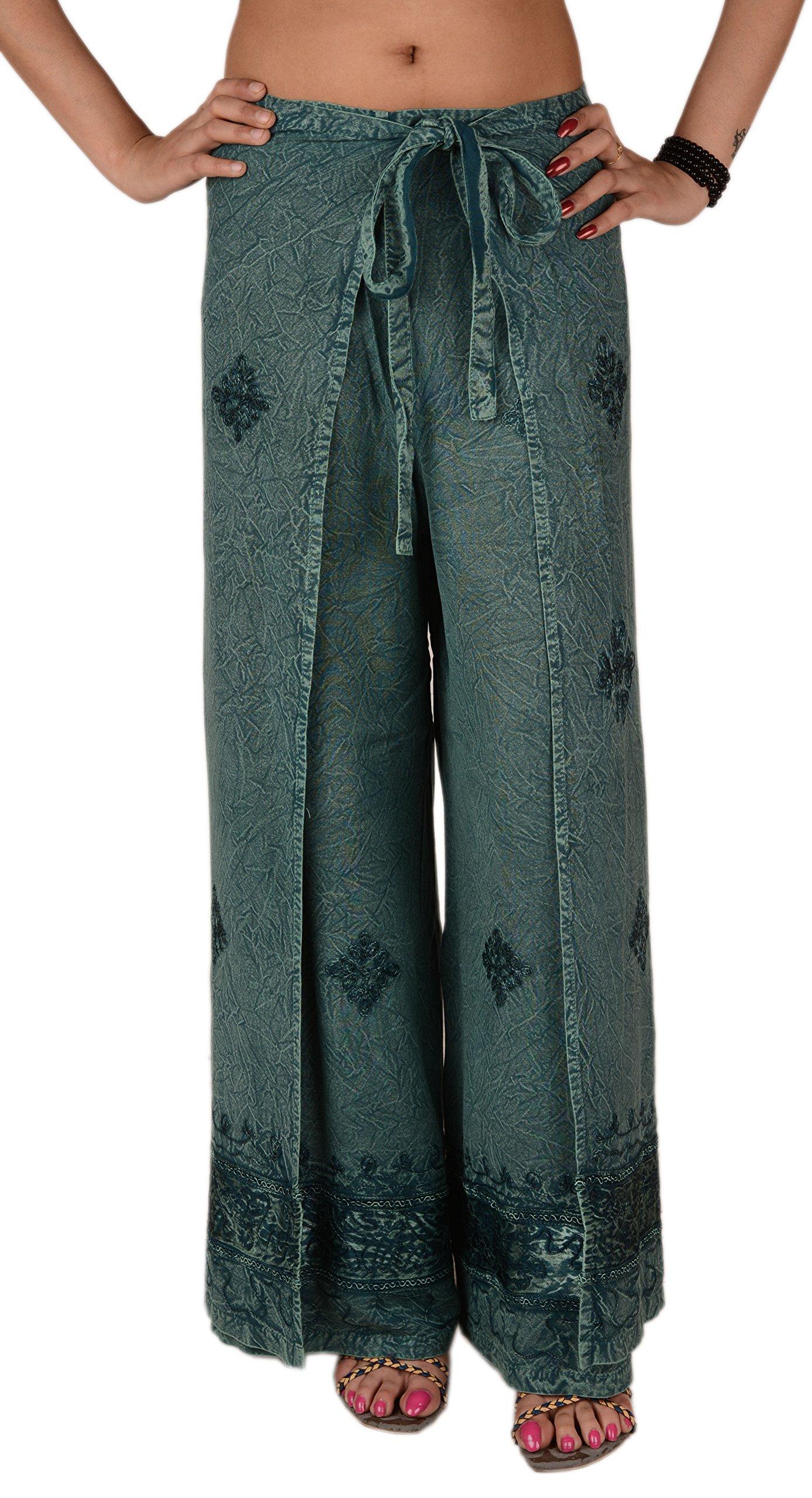 SNS Rayon Embroidered Aladdin Pant