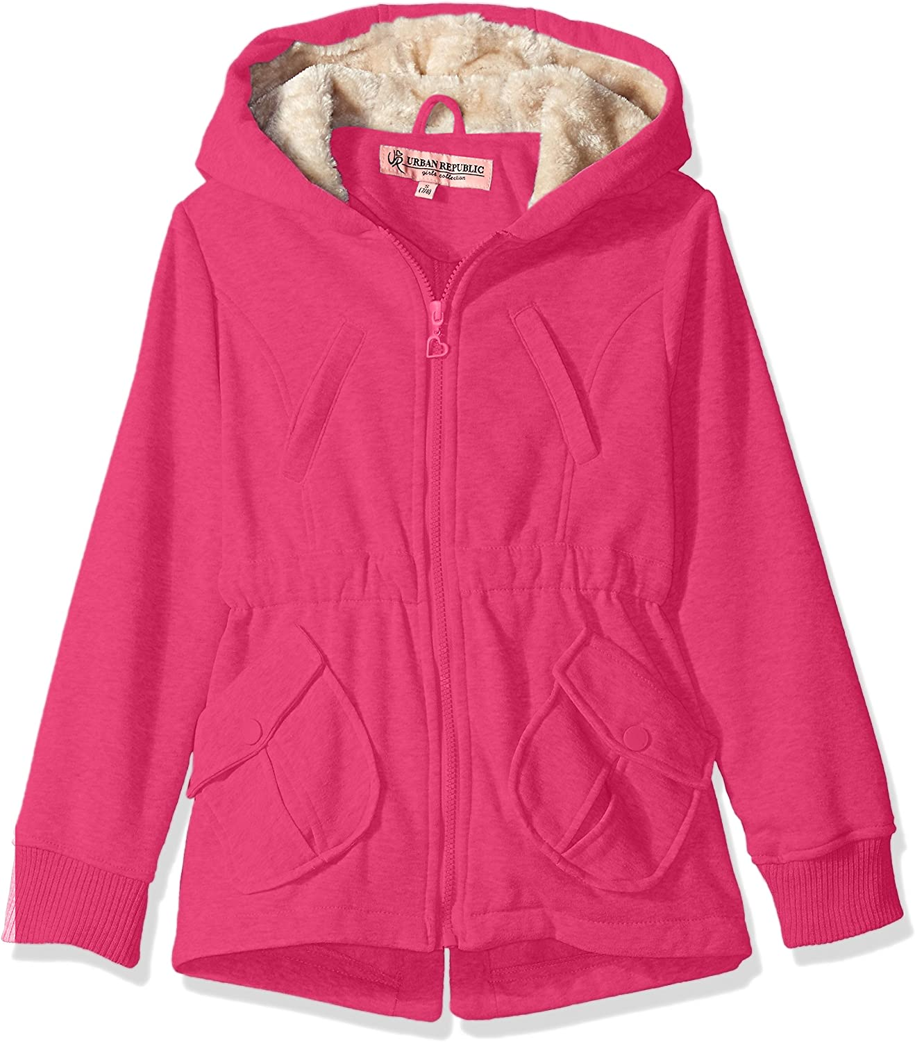 best quality preview of footwear Amazon.com: Urban Republic Girls' Little Fleece Jacket, Neon Pink ...