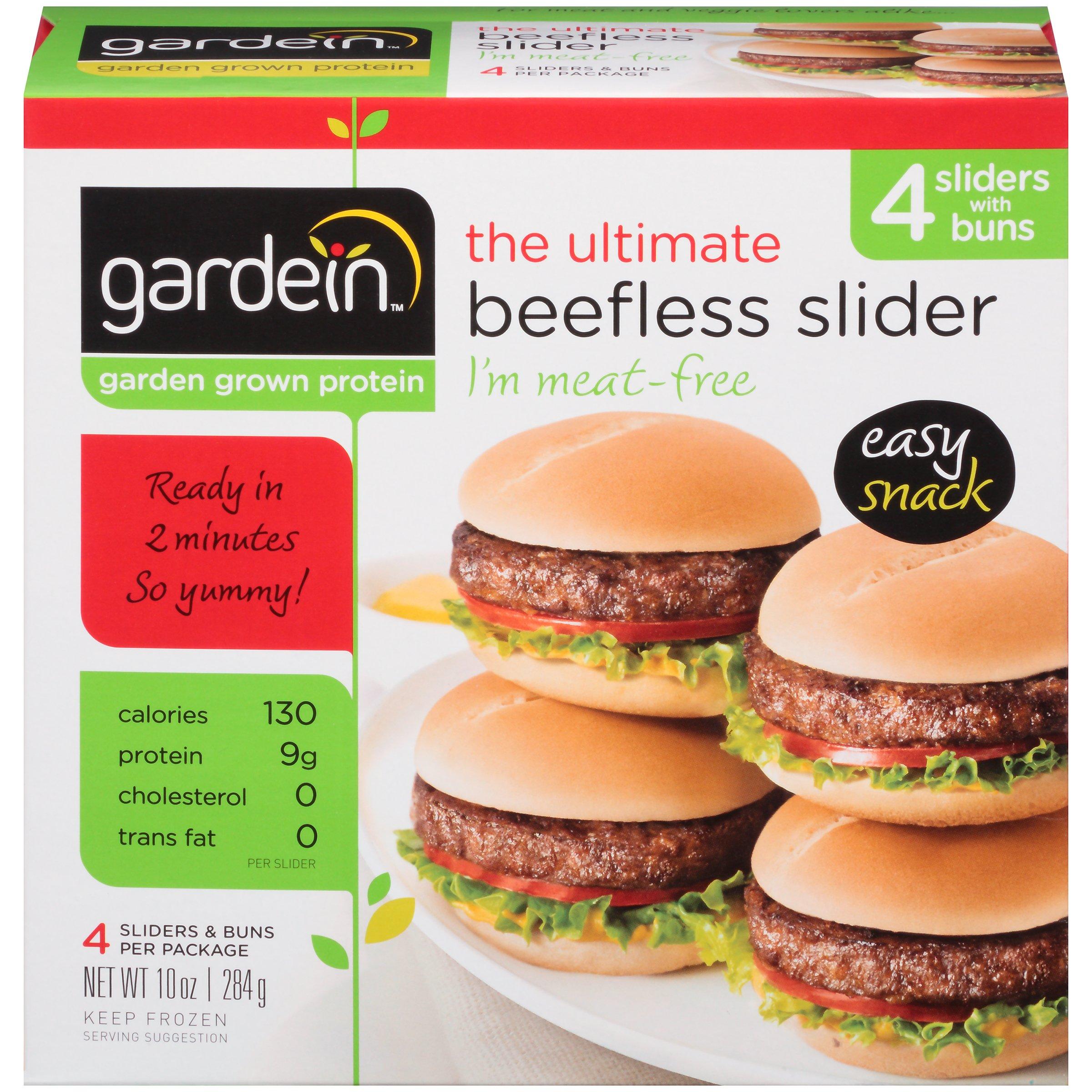 Gardein Meat-Free, Dairy Free, Vegan Ultimate Beefless Slider 10 oz, Pack of 6