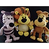 RAA RAA THE NOISY LION SOFT PLUSH TOYS SET OF THREE, RAA RAA, OOO OOO AND ZEBBY