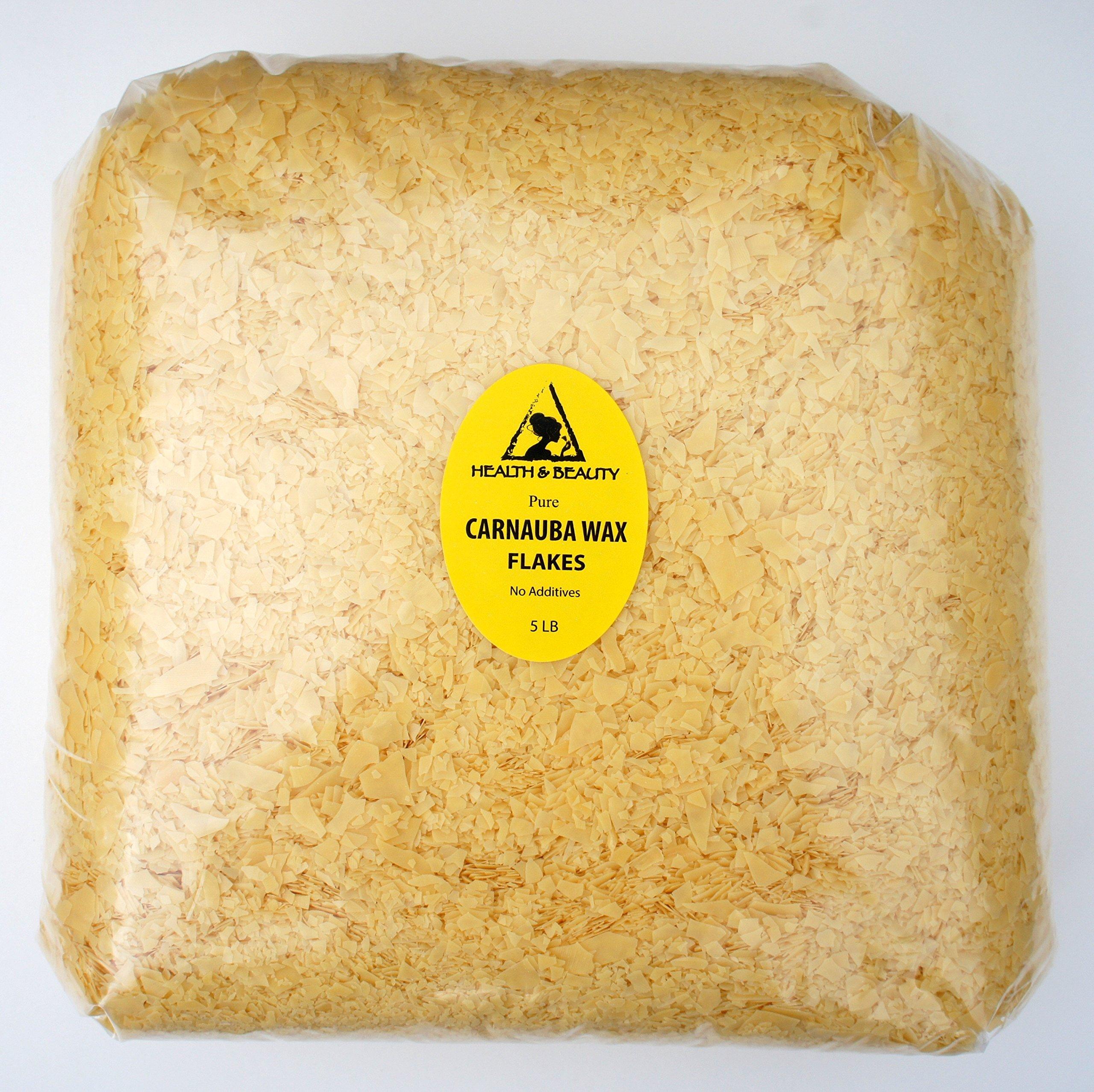 Carnauba Wax Organic Flakes Brazil Pastilles Beards Premium Prime Grade A 100% Pure 5 LB