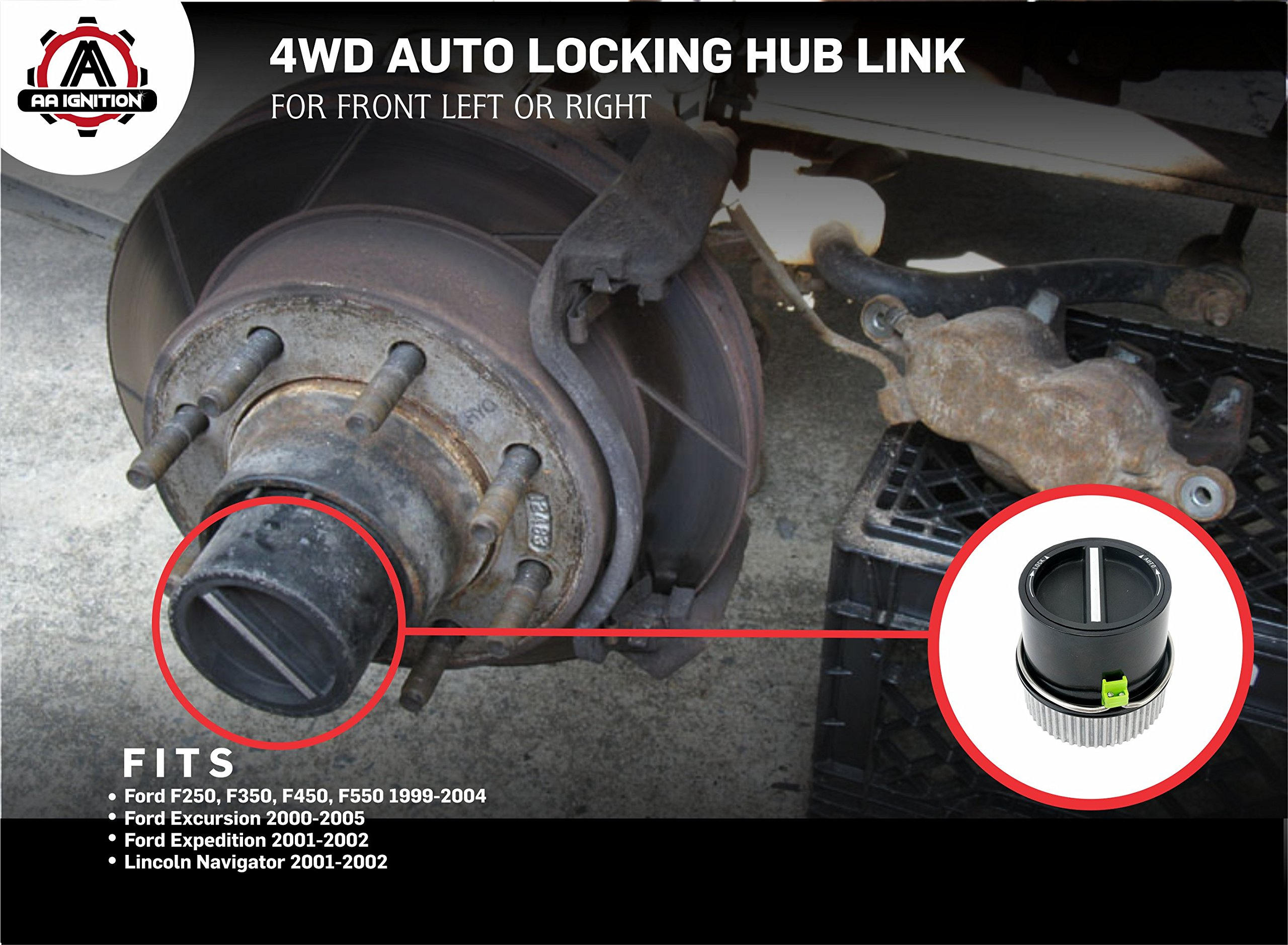 4wd Auto Locking Hub Link Front Left Or Right Replaces 1c3z 2004 Ford F550 Super Duty 3b396 Cb Fits 1999 F250 F350 F450 2000 2005 Excursion