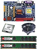 Intel 945 Chipset Motherboard with DDR2 2GB Ram and CPU Cooler Fan