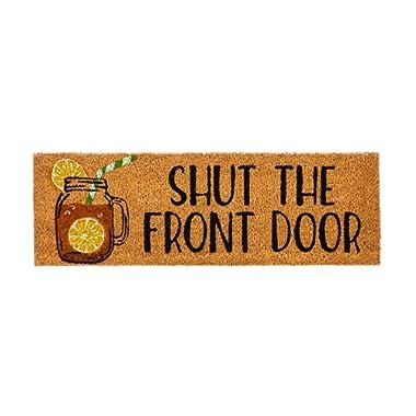 Evergreen Shut The Front Door Kensington Natural Coir Interchangeable Switch Mat - 28.25  W x 9.25  H …