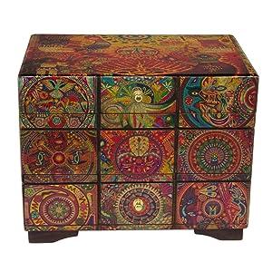 NOVICA 256493 Huichol Portal' Decoupage Jewelry Box