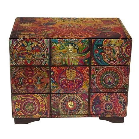 novica animal themed wood decoupage jewelry box