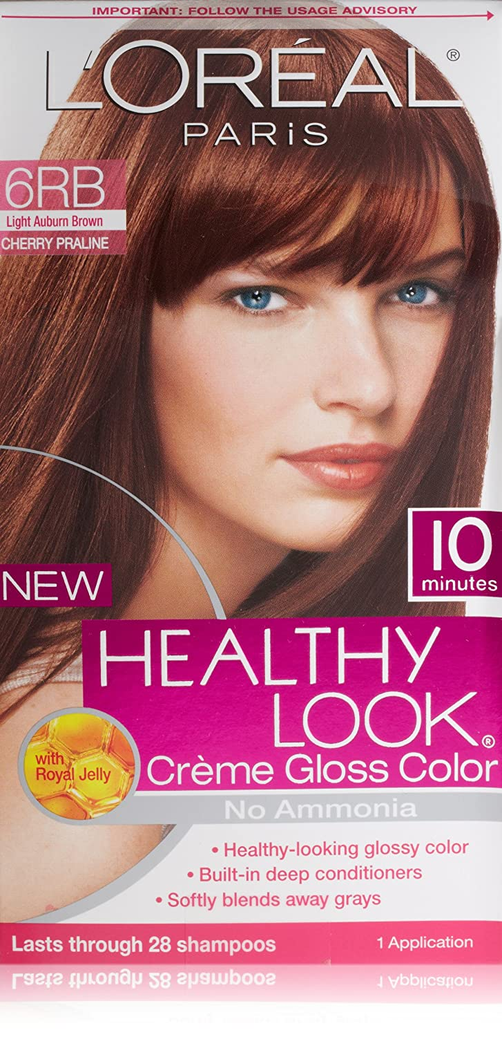 Amazon.com : L'Oreal Healthy Look Creme Gloss Hair Color, 6RB Dark ...