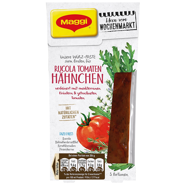 Maggi Ideen vom Wochenmarkt Würz-Paste zum Braten Rucola Tomaten ...