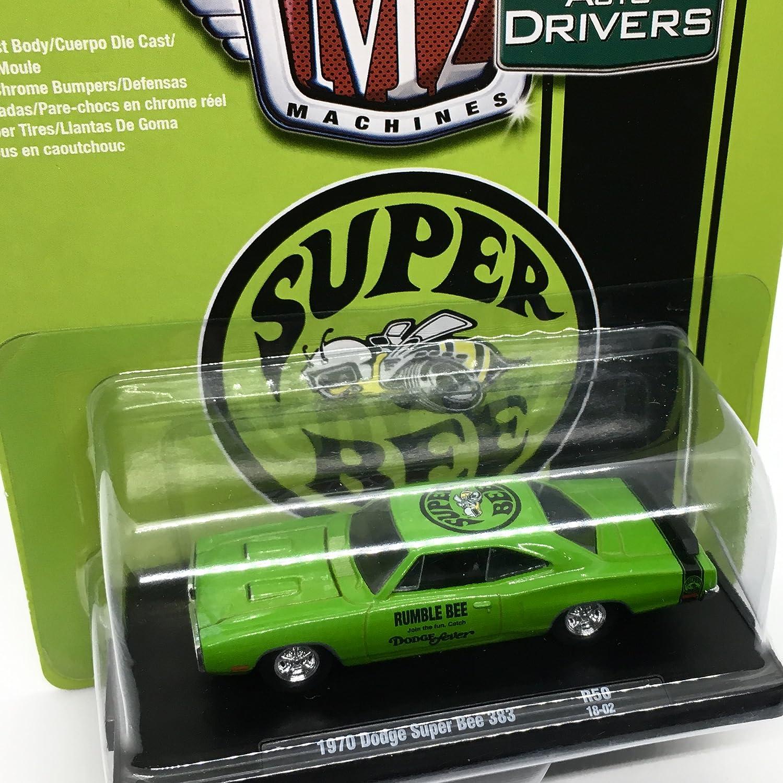 Amazon.com: M2 Machines 1970 Dodge Super Bee 383 (Sublime w/Semi-Gloss Black Stripe) Auto-Drivers Release 50 - Castline 2018 Special Edition 1:64 Scale ...