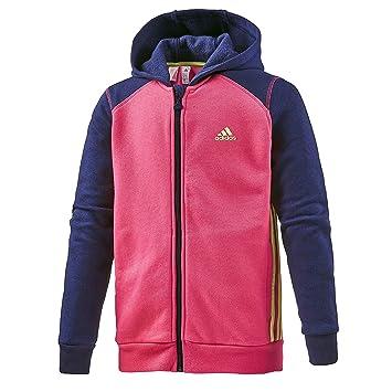 Adidas LK ESS FZHD - Sudadera para niño, Color Blanco/Negro, Talla 104: Amazon.es: Deportes y aire libre