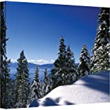 Art Wall Lake Tahoe in Winter Gallery Wrapped Canvas by Kathy Yates, 32 by 48-Inch