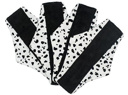 Compresas reutilizables | 4 salvaslip tela muy absorbentes | toallas femeninas de tela menstruación (Weiss