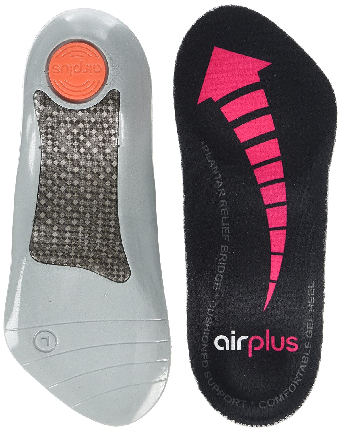 682a6305a4 Airplus Womens Plantar Fasciitis-75019 Orthotic Insole Black Medium:  Amazon.co.uk: Health & Personal Care