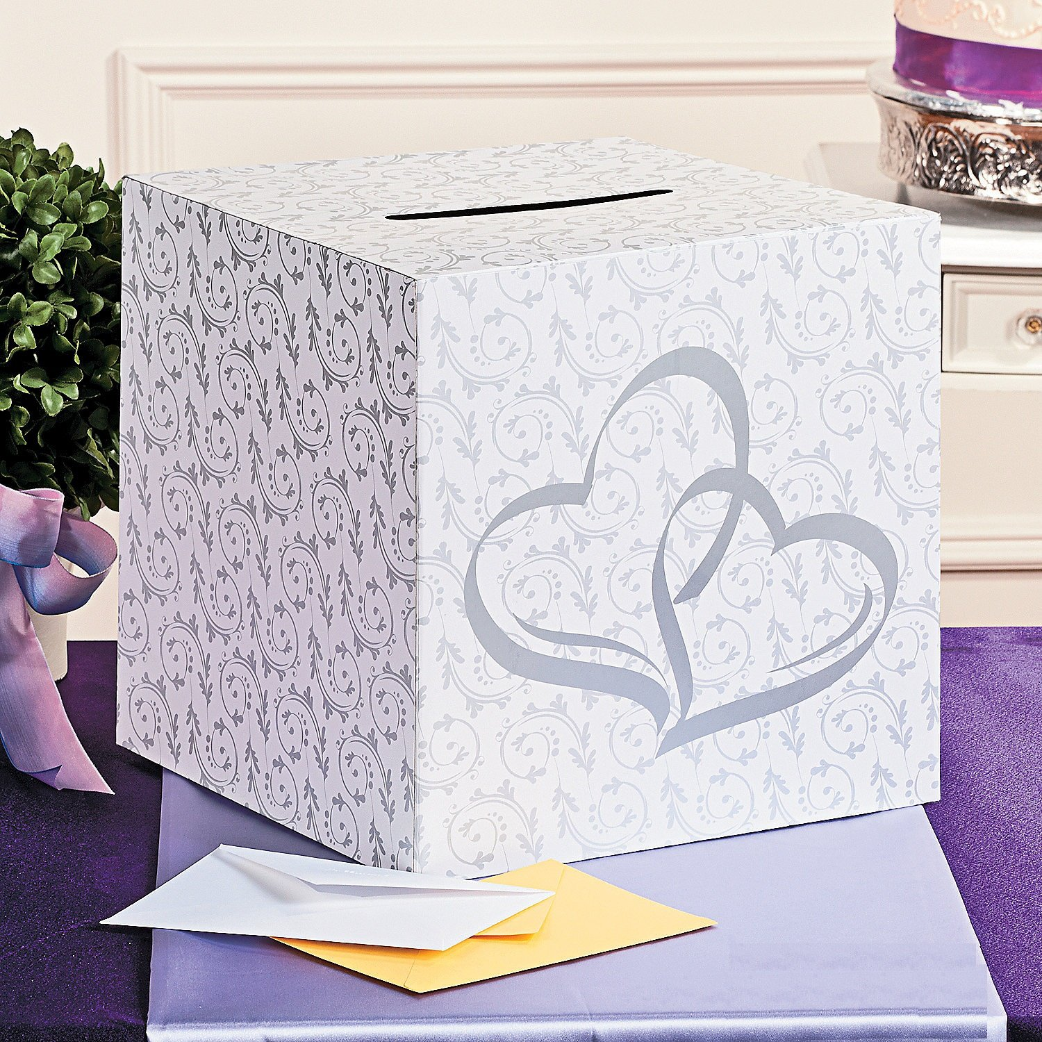 Amazon Two Hearts Wedding Card Box Kitchen Dining – Wedding Reception Gift Card Holder