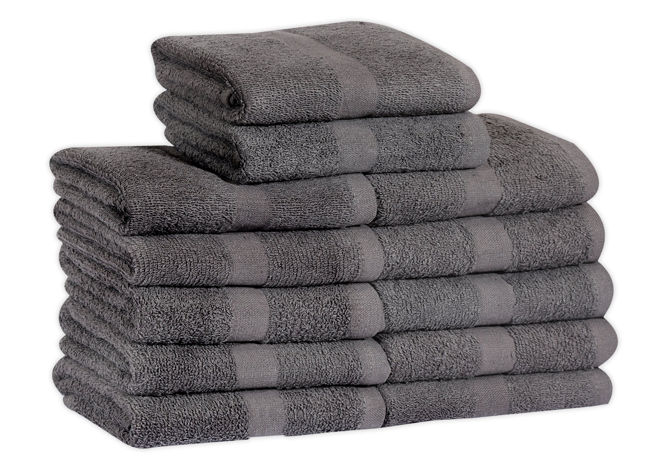 Cotton Salon Towels (24-Pack,Dark Grey,16x27 inches) - Soft Absorbent Quick Dry Gym-Salon-Spa Hand Towel (Gray) (100%
