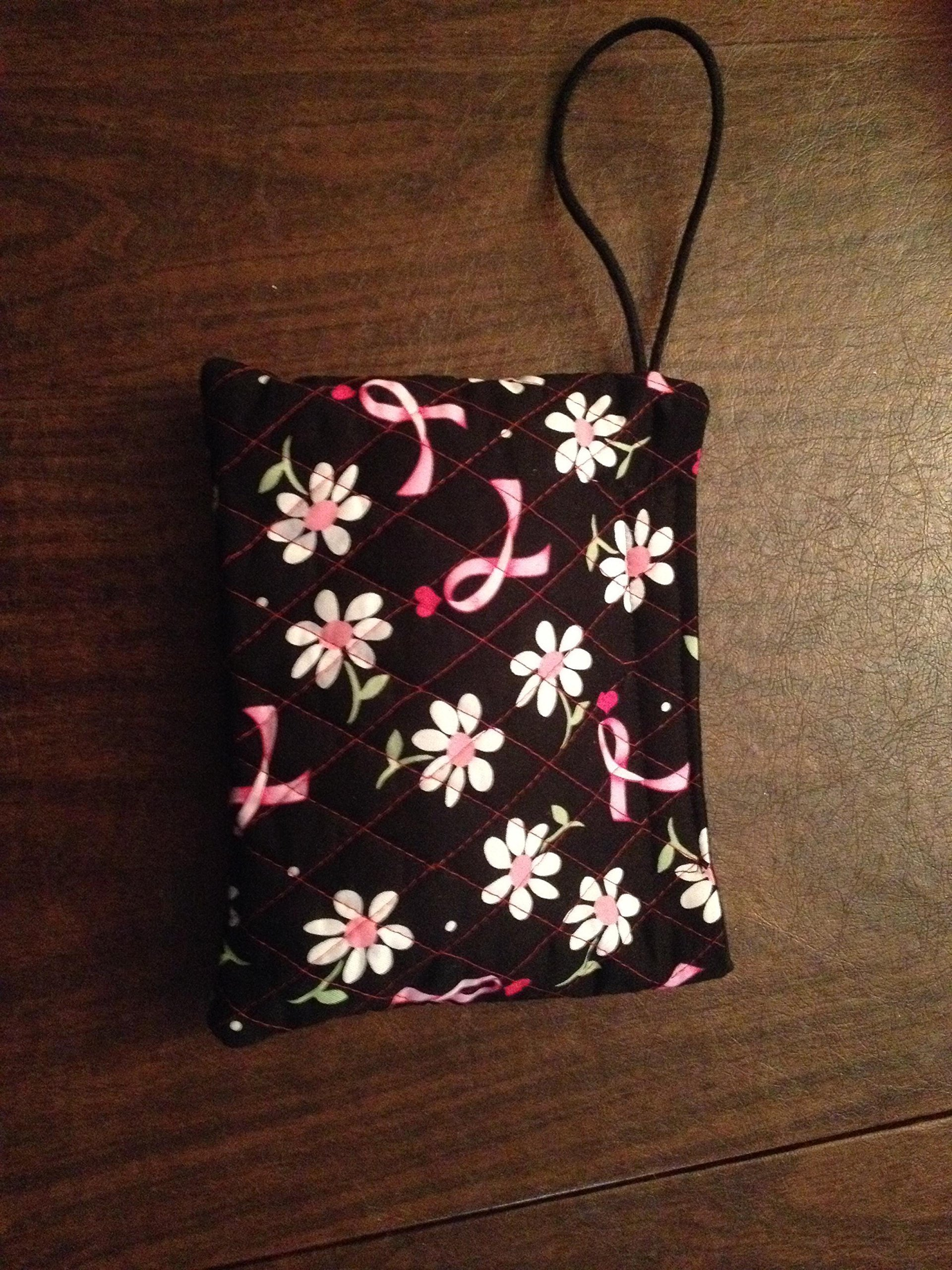 Wristlet Wallet Bag Purse Breast Cancer Awareness Ribbon Quilted by Middle Sister Styles, LLC