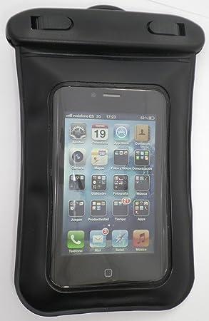 Elbe FI-008 - Funda impermeable para Smartphone, protege de agua, arena y polvo, color negro: Amazon.es: Electrónica