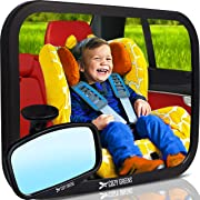 COZY GREENS Baby Car Mirror   Crash Tested, Stable, Shatterproof   100% Lifetime Satisfaction Guarantee   Matte Finish   Wide Clear View Baby Mirror for Back Seat   Carseat Mirrors Rear Facing Infant