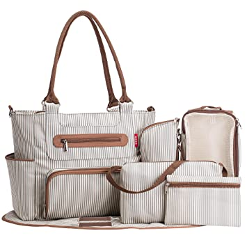 c20a3f6d05c9e SoHo diaper bag Grand Central Station 7 pieces set nappy tote bag large  capacity for baby