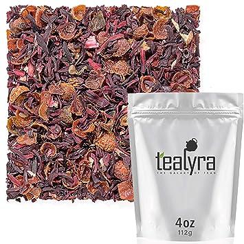 Amazon Com Tealyra Hibiscus And Rosehips Herbla Loose Leaf Tea