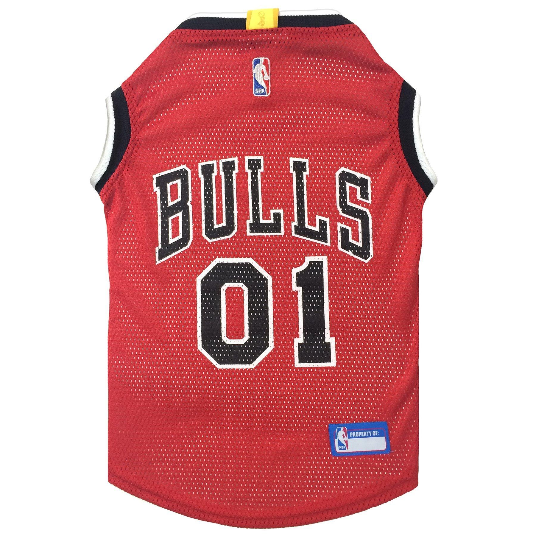 NBA CHICAGO BULLS DOG Jersey, Medium - Tank Top Basketball Pet Jersey