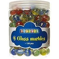 Playbox PBX2471163 2471163 Glass Marbles, Set of 150 Pieces, Diameter-1.6 cm, Multi Color