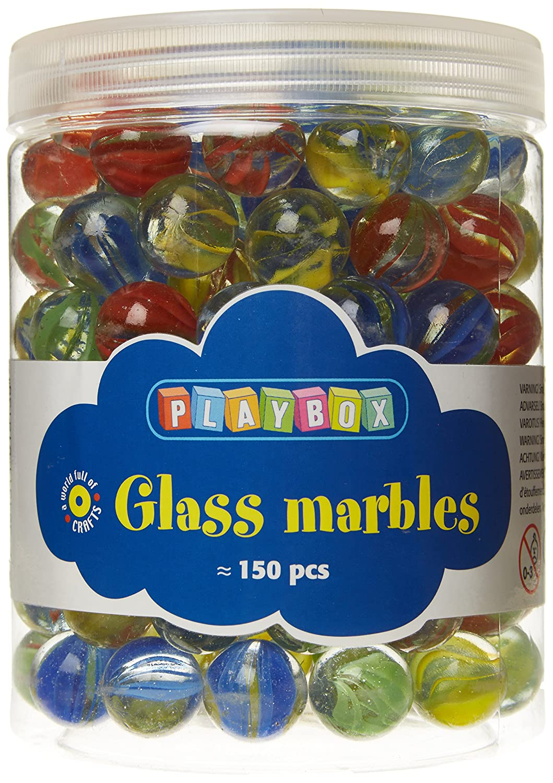 Playbox 16mm Glasmurmeln (bunten Farben) PBX2471163