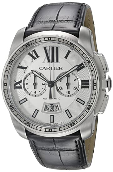 Cartier Calibre - Reloj (Reloj de Pulsera, Masculino, Acero Inoxidable, Acero Inoxidable