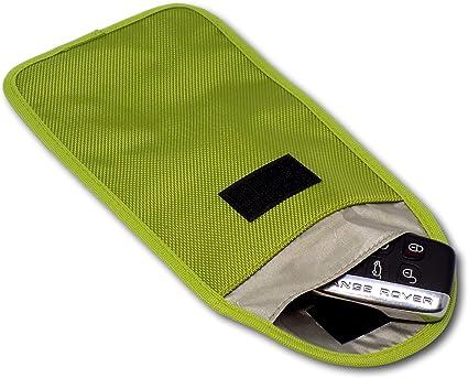Minder Funda de seguridad de interferencia de señal con bloqueo de identificación por radiofrecuencia (RFID) para entradas sin llave, llaves del coche, teléfonos móviles, WiFi, GSM, LTE y NFC: Amazon.es: Coche y
