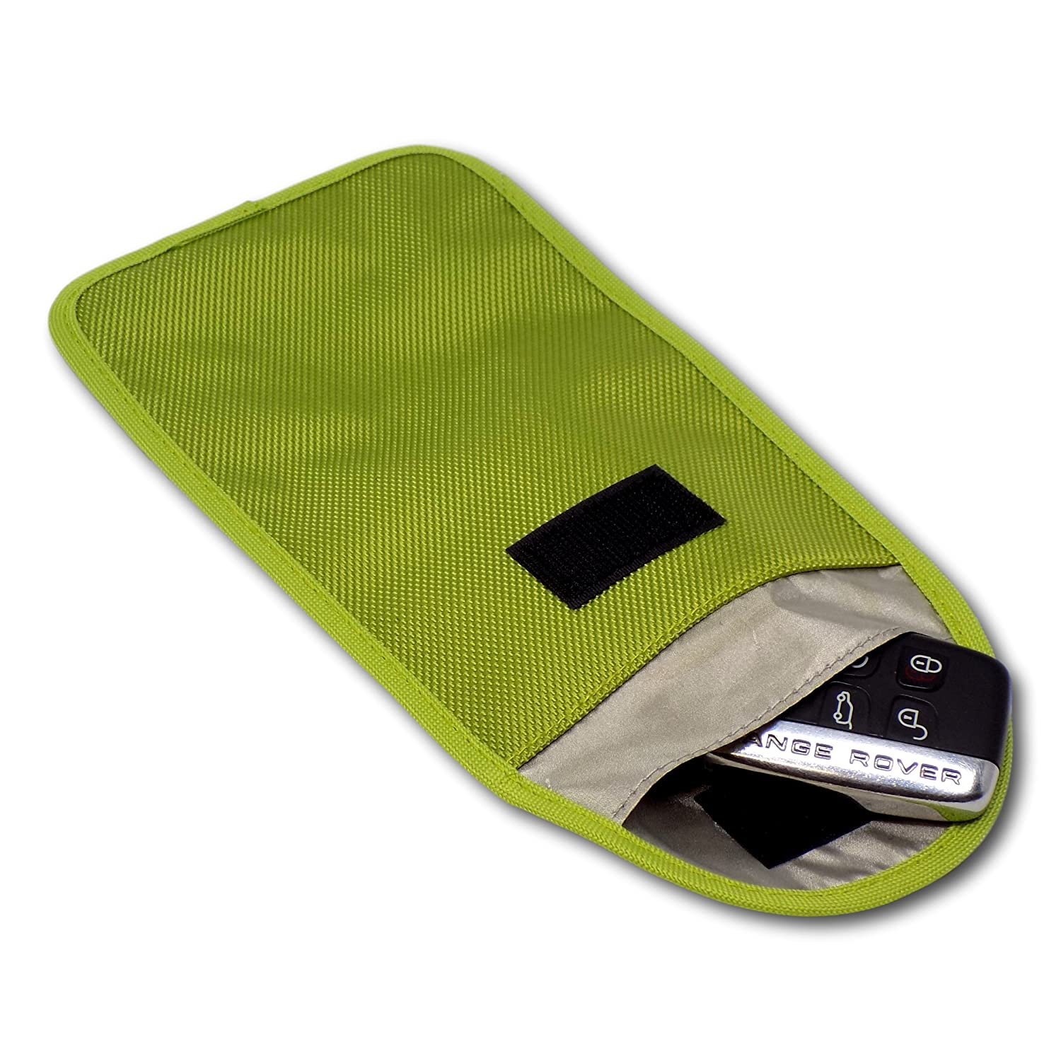 Minder Signal Blocker Signal Jamming Case with RFID Blocking Pouch for Keyless Entry//Start Car Keys and Mobile Phones Faraday Bag Protection Security for WIFI//GSM//LTE//RFID Mini Lime Green