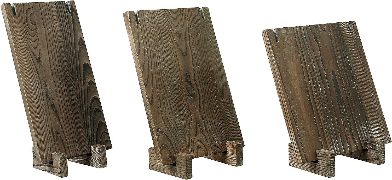Lot DE 3 Medium Beige Style Vintage Planche de Bois Vente Boutique Collier Bijoux Pr/ésentoirs