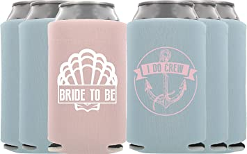 amazon com nautical bachelorette party koozies i do crew and bride