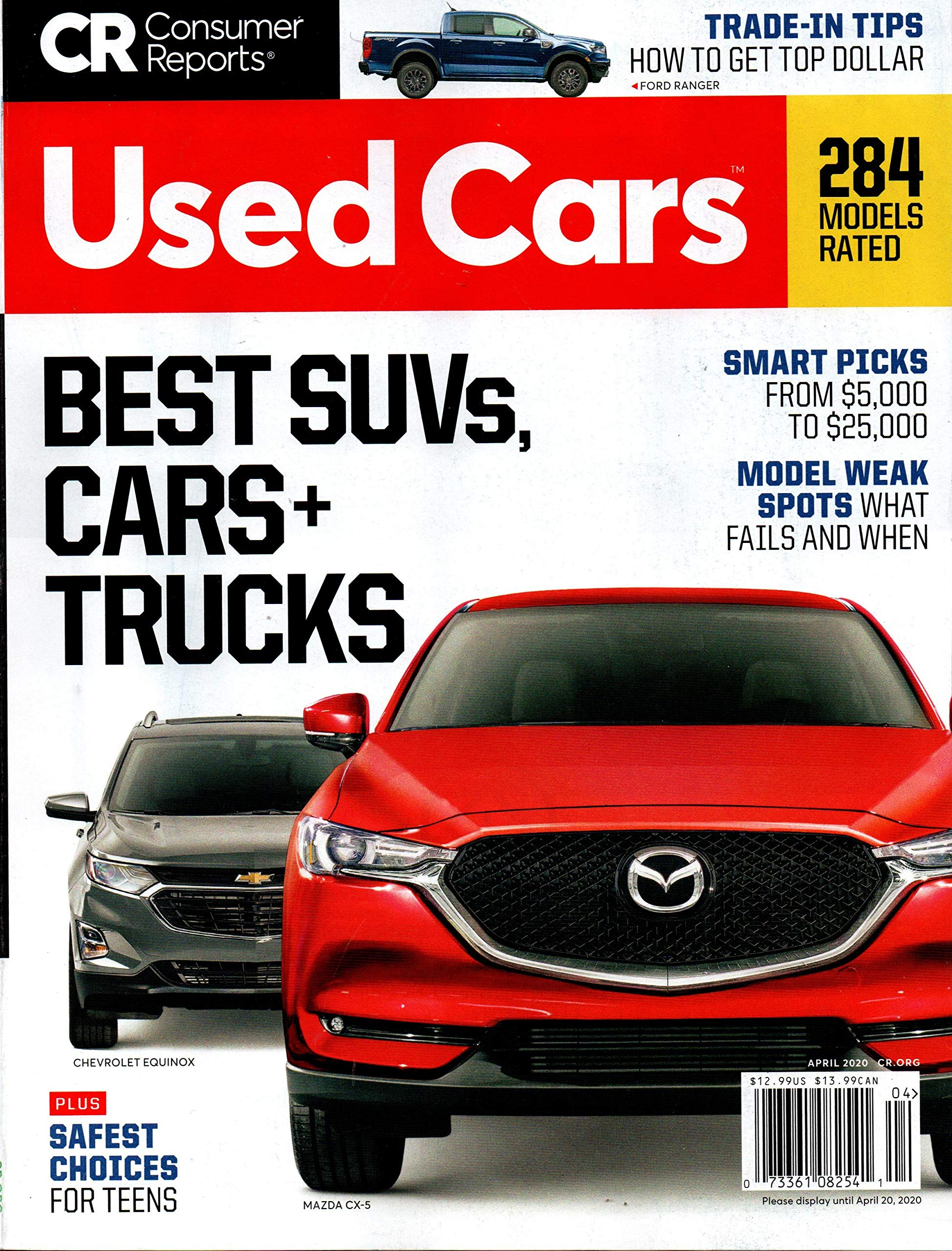 Consumer Reports Used Cars Magazine April 2020 Editors Of