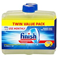 Finish Dishwasher Cleaner, Lemon Sparkle, Twin Pack 2x250ml
